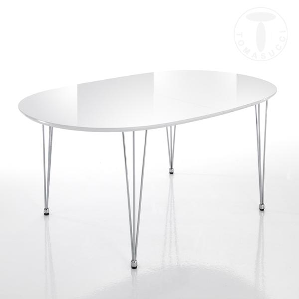 Tavoli fissi e allungabili tavolo ovale allungabile elegant - Tavolo rotondo allungabile bianco ...