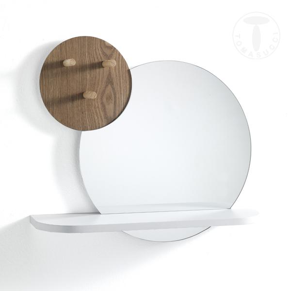 Mensola da parete con specchio HOJO