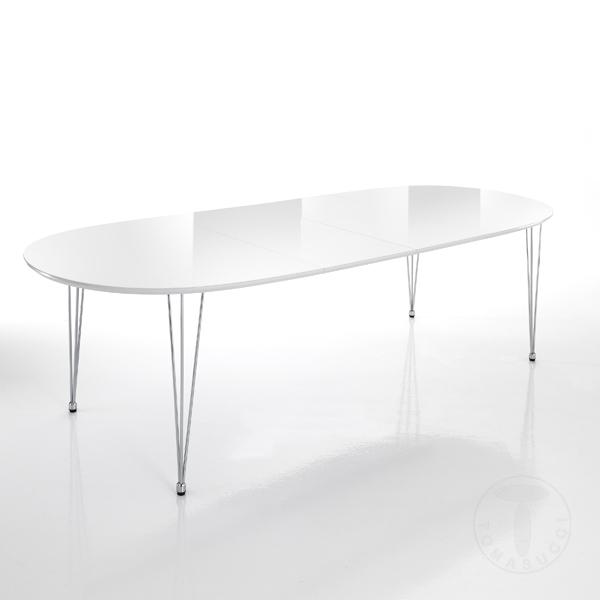 TOMASUCCI tavolo ovale ELEGANTl laccato bianco lucido MDF ...