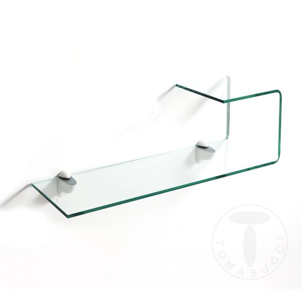 Mensole mensola in vetro curvato liz - Mensole bagno in vetro ...