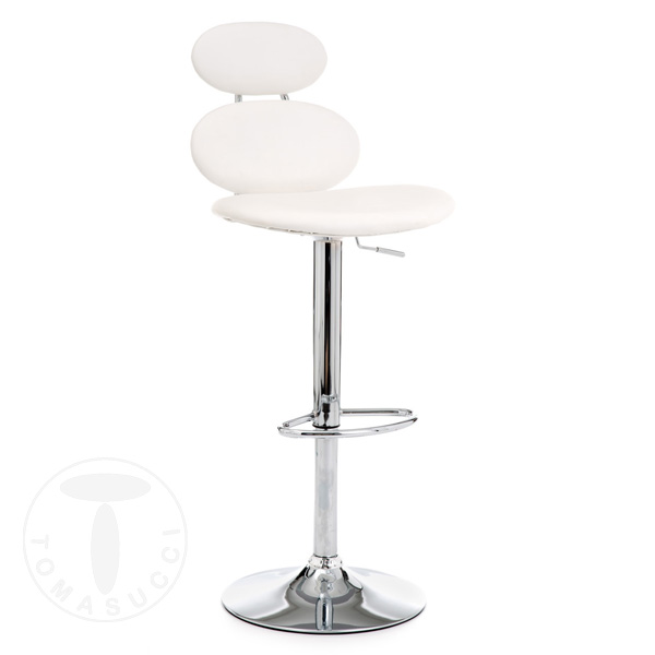 sgabello bar CETUS WHITE
