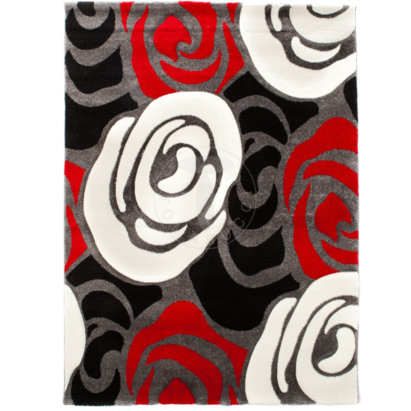 tappeto ROSE RED AND BLACK 160x230