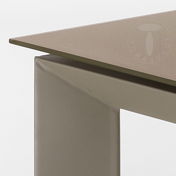 Shoes Rectangular Extensible Table Blade 120 Tortora
