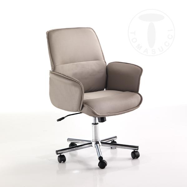 Sedie ufficio poltrona da ufficio cony tortora for Sedute da ufficio