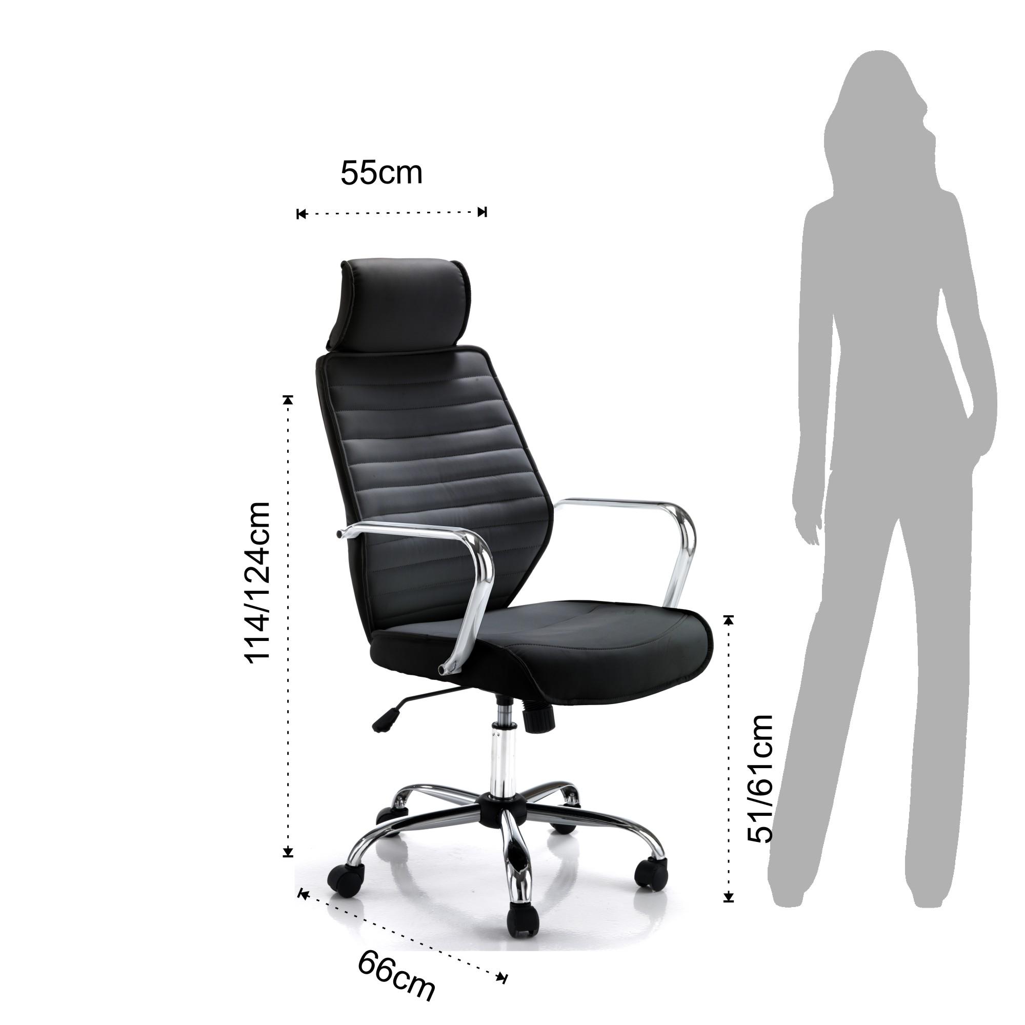 Sedie ufficio poltrona da ufficio evolution black for Sedie a poltrona