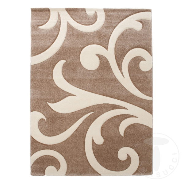 Bands bathroom carpet bedside rug damasko cream 60x110 - Tappeto scendiletto ...