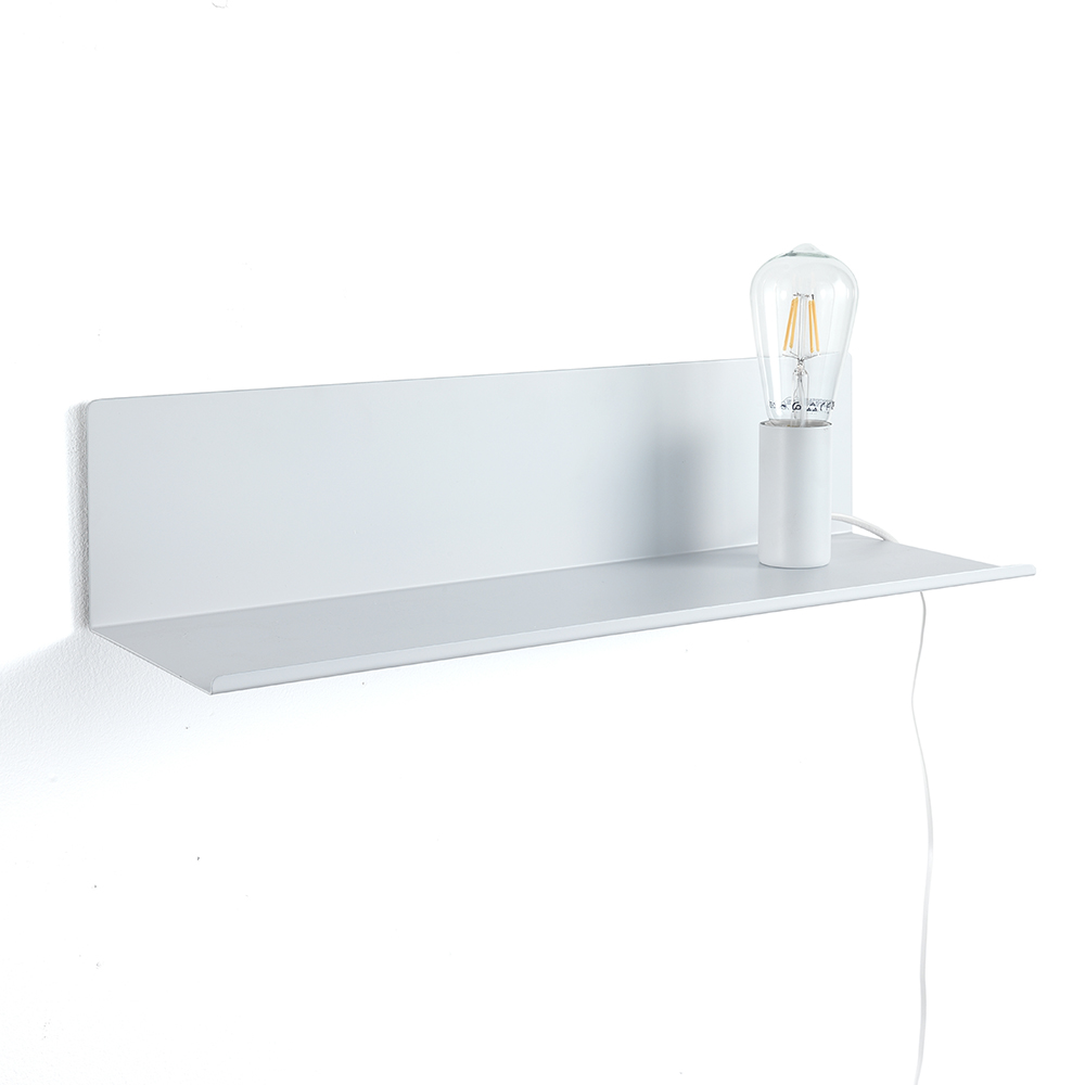 Lampada / mensola / comodino MAGIC SHELF WHITE