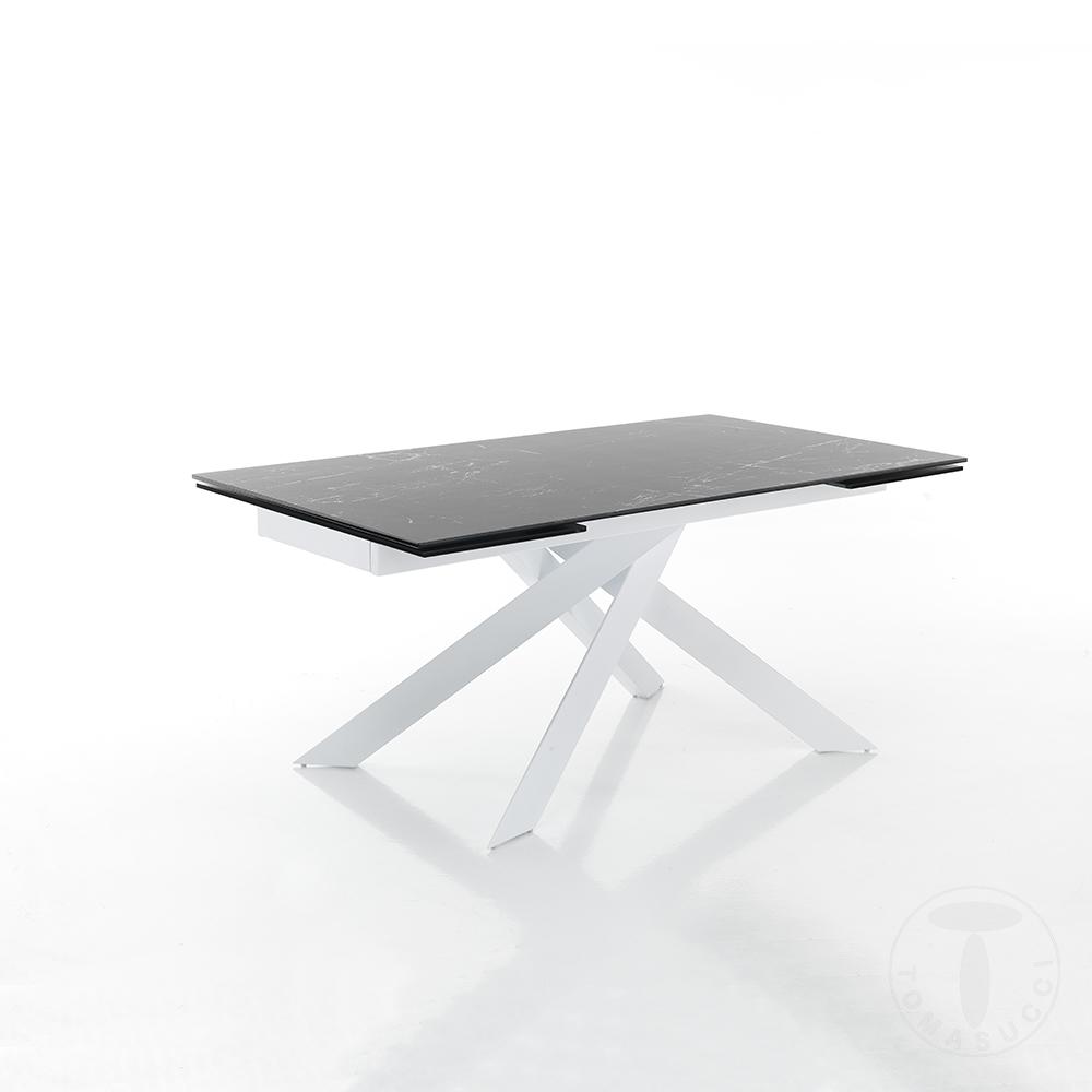 tavolo allungabile GIUKI MATT BLACK MARBLE