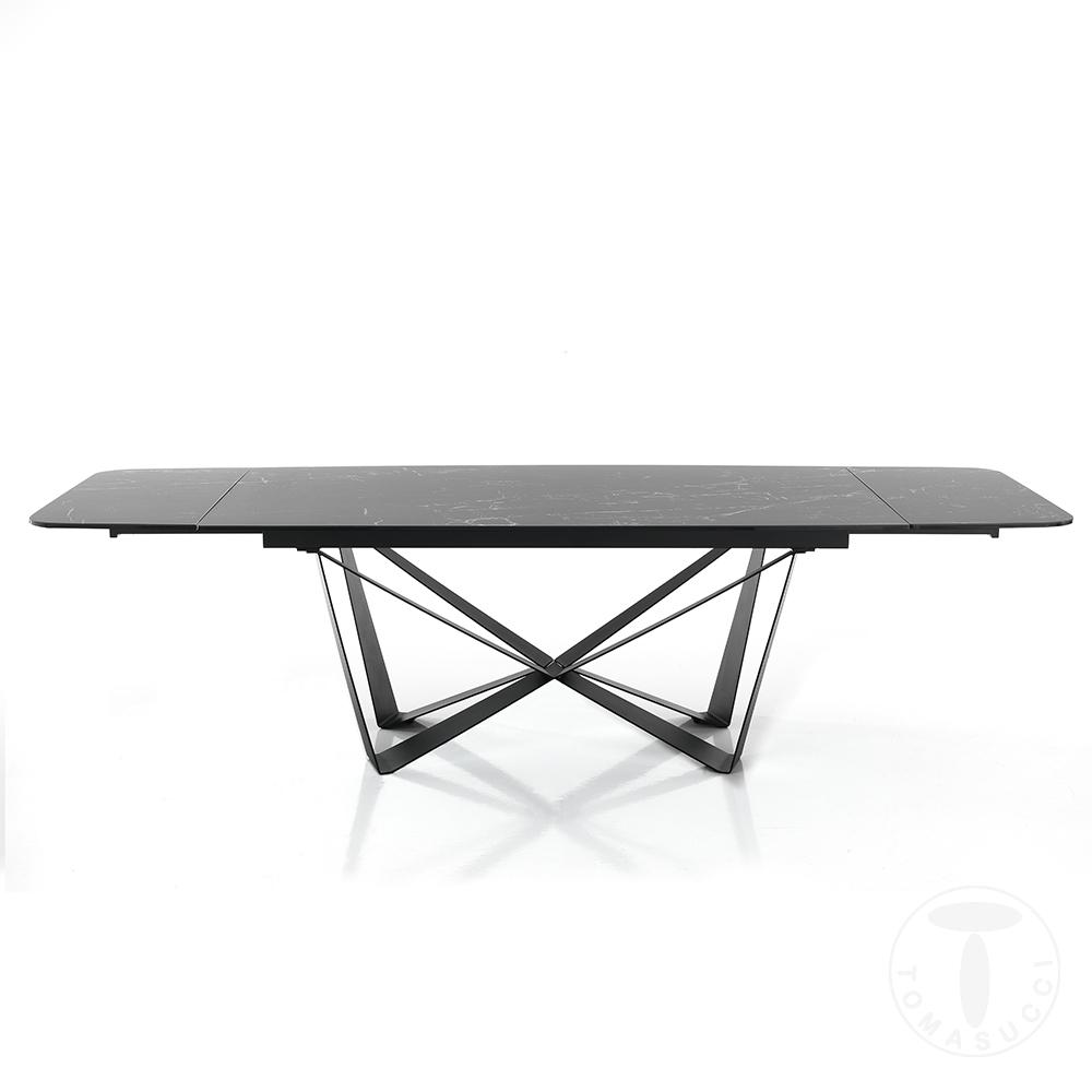 tavolo allungabile GRAM MATT BLACK MARBLE