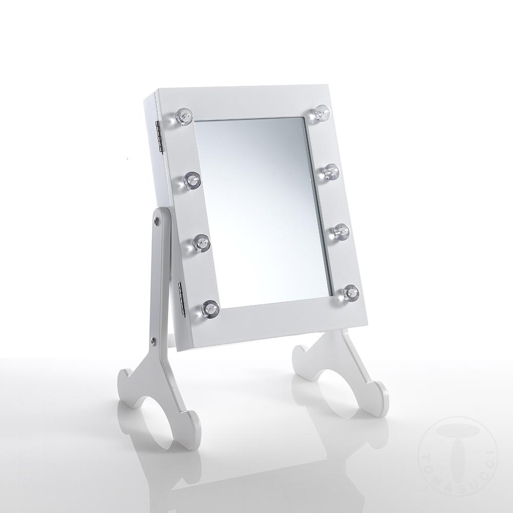 Specchiera da tavolo c/contenitore COFFER LUX