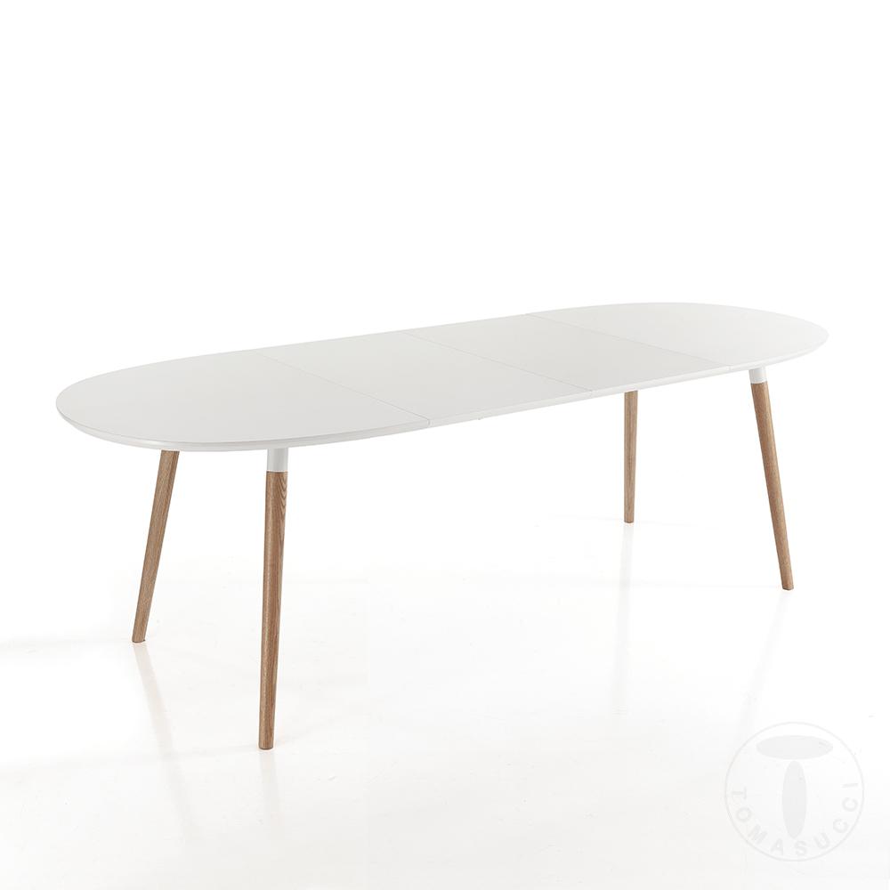 tavolo ovale allungabile EGO 140 WOOD