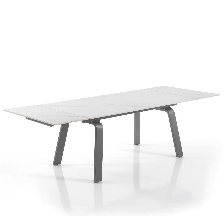 tavolo allungabile DEEM WHITE MARBLE