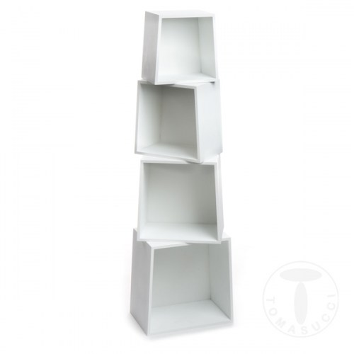 set 4 cubi da parete ROCKET WHITE