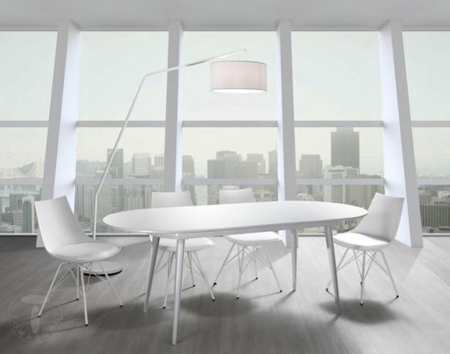 Tavoli fissi e allungabili tavolo ovale allungabile astro - Tavolo bianco ovale allungabile ...